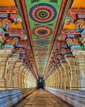 The Great Corridor at Ramanathaswamy Temple