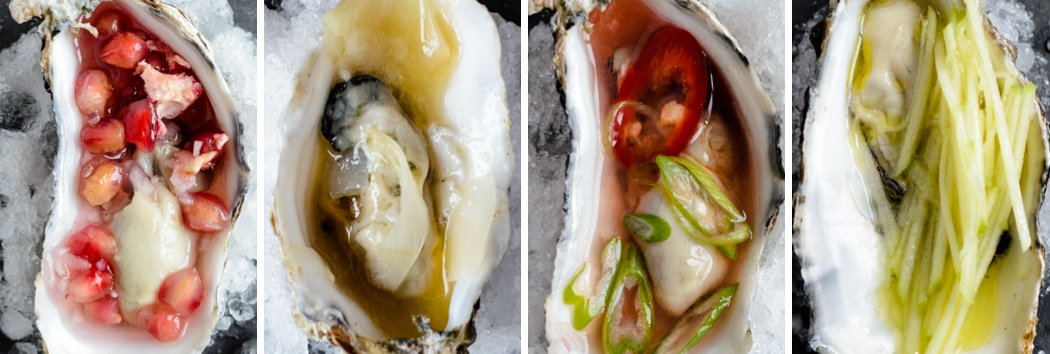 half shell oysters