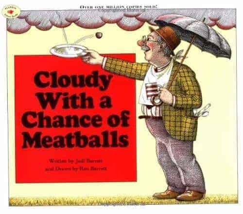 cloudy with a chance of meatballs book for preschoolers