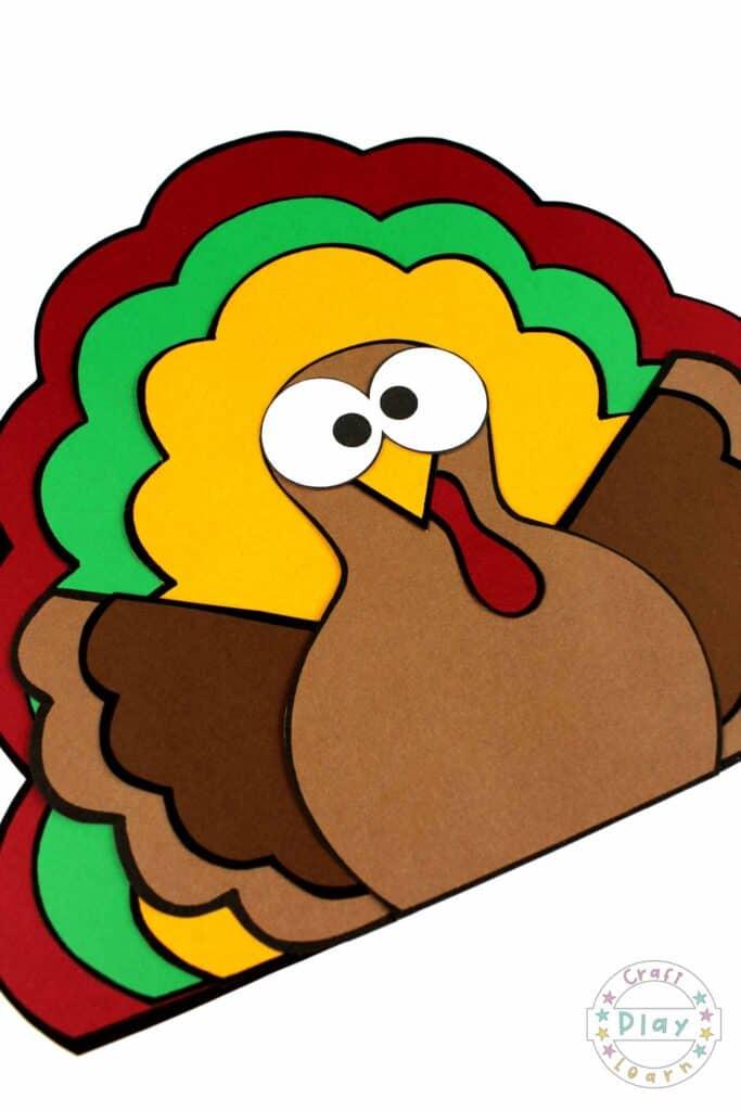 thanksgiving turkey paper craft