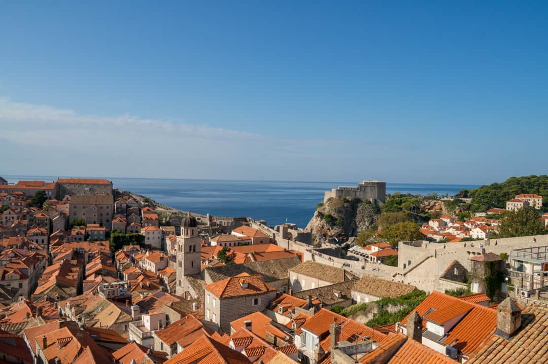 Afternoon view from the Dubrovnik City Walls Walk