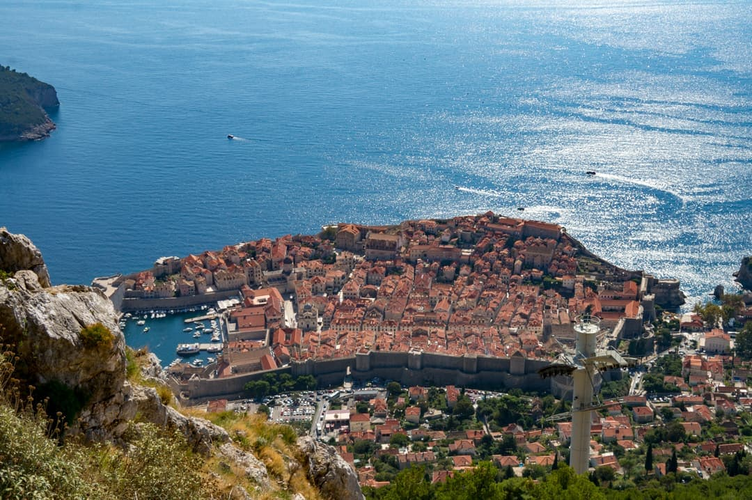 View of Dubrovnik from Cable Car Observation Tower