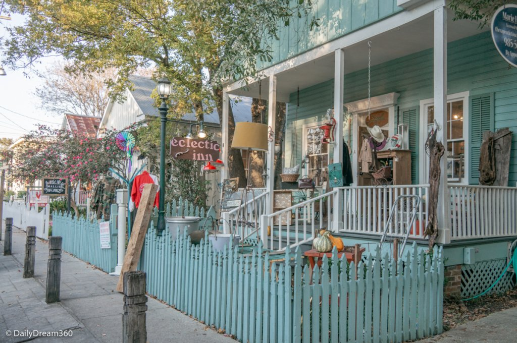 Shops of downtown Covington Louisiana