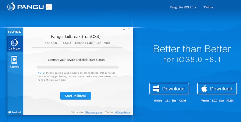 Pangu - iOS 8 in 8.1 jailbreak - iPhone, iPad, iPod Touch