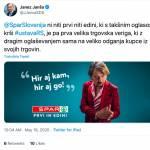 Janeza Janso moti Magnifico v oglasu za Spar