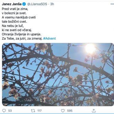 Janez Janša napise pesmico ko je 1384 mrtvih 48 v zadnjem dnevu