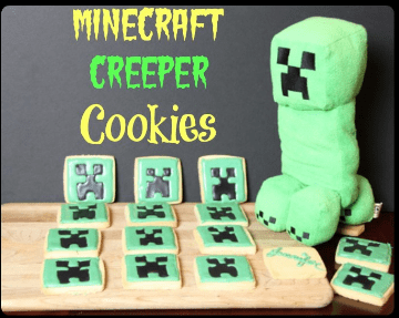Easy Minecraft Cookies made with Royal Icing