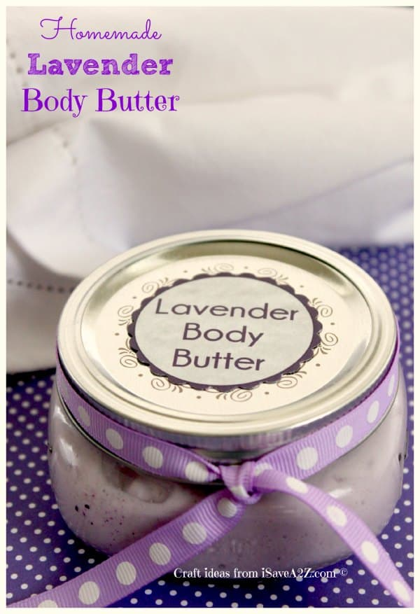Homemade Body Butter Cream Recipe with free printable labels