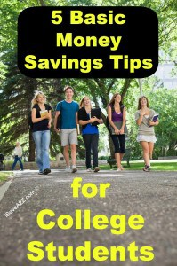 5 Basic Money Saving Tips for College Students