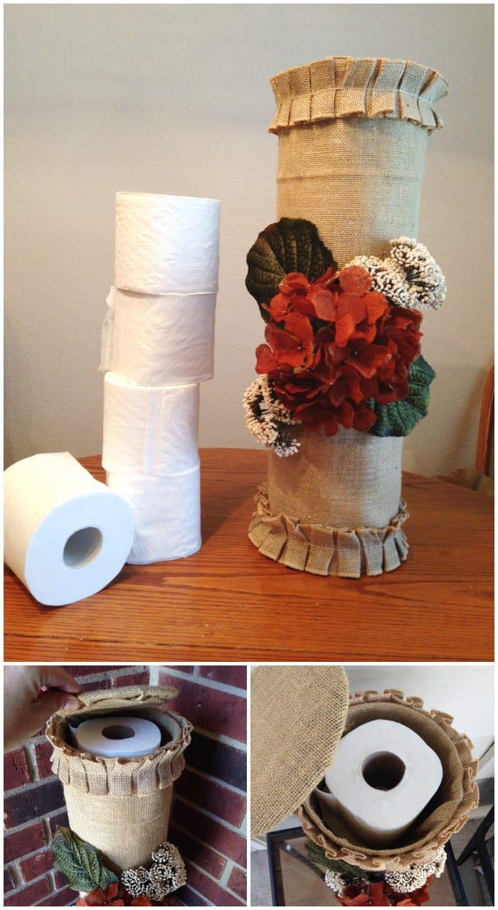 Tin Can Toilet Paper Holder Craft Project