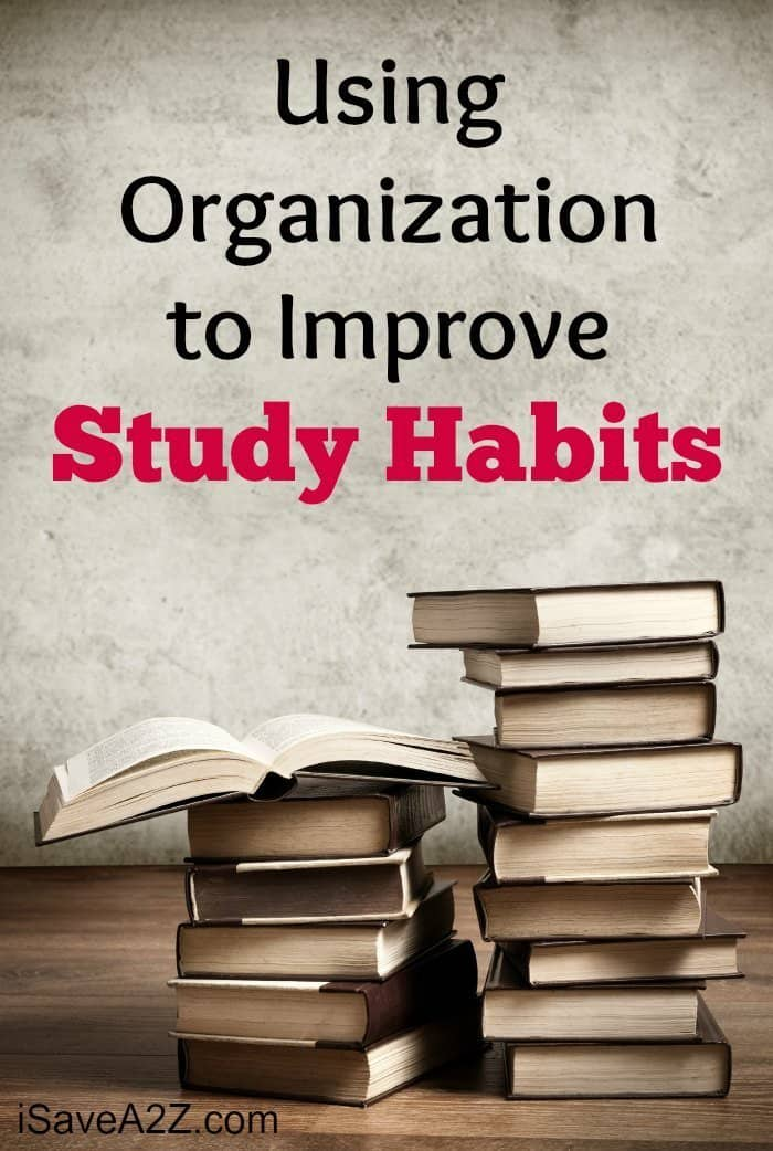 Using Organization to Improve Study Habits