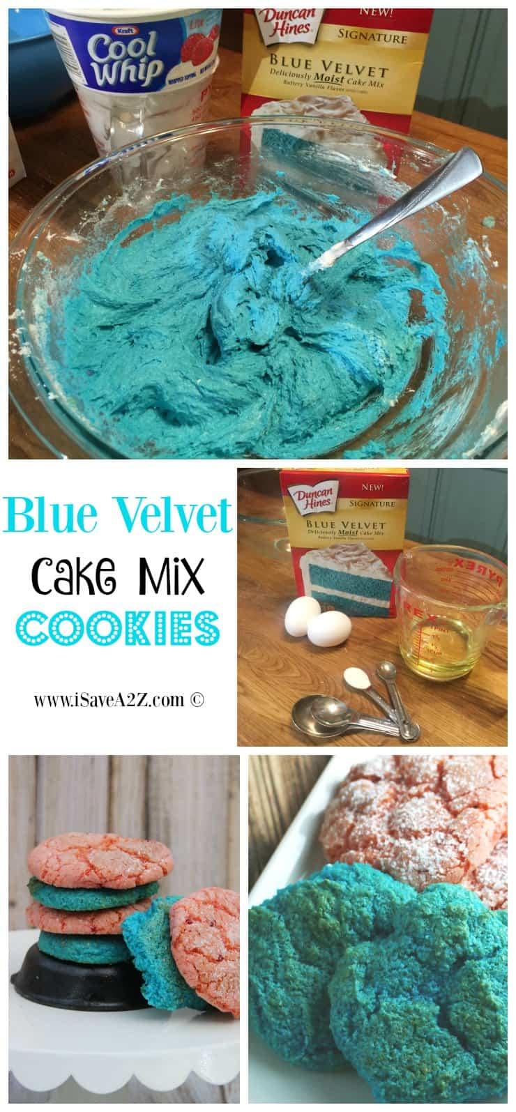 Blue Velvet Cake Mix Cookies Recipe