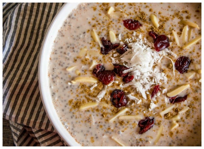 Low Carb Overnight Chia Oatmeal