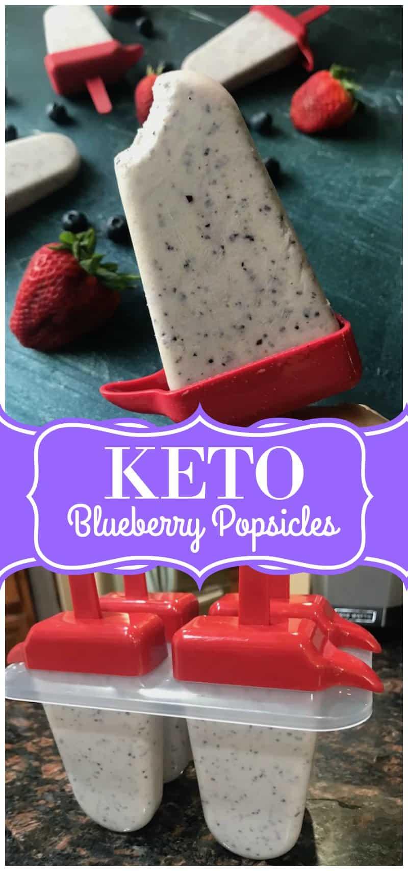Creamy Blueberry Keto Popsicles Recipe