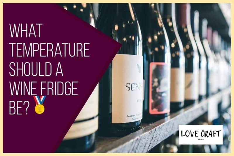 What temp should a wine fridge be