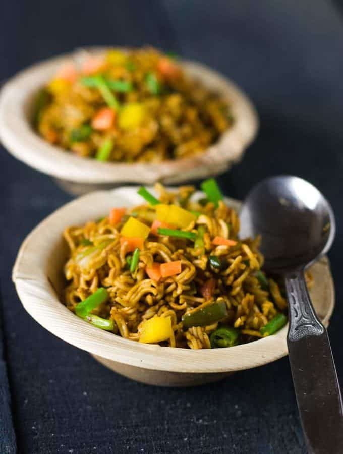 Wai Wai Noodles Recipe with veggies