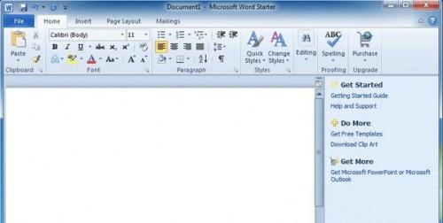Microsoft Office 2010 Starter edition