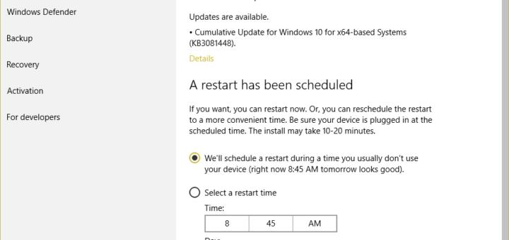 KB3081452, KB3081448, KB3081449 update