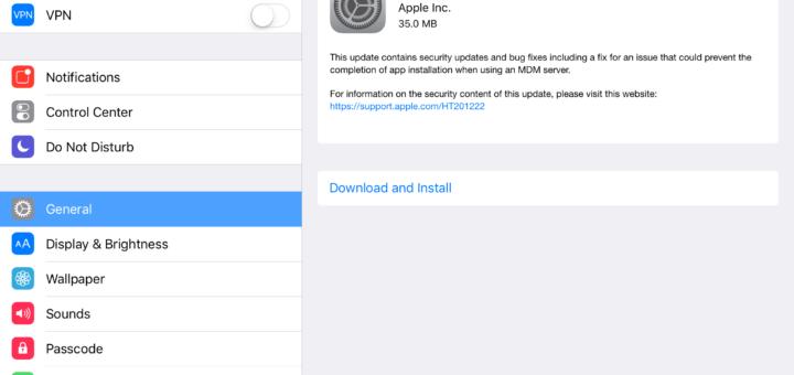 install iOS 9.2.1 update