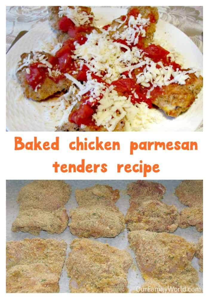 Baked chicken parmesan tenders recipe: an easy recipe to prepare with kids