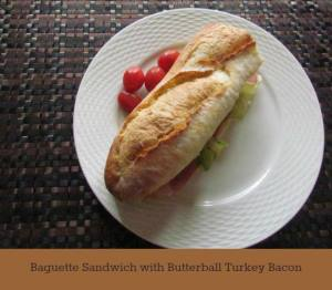 Baguette Sandwich with Butterball