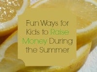 Ways for Kids to Raise Money