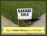 Ways to Make Money at a Yard Sale