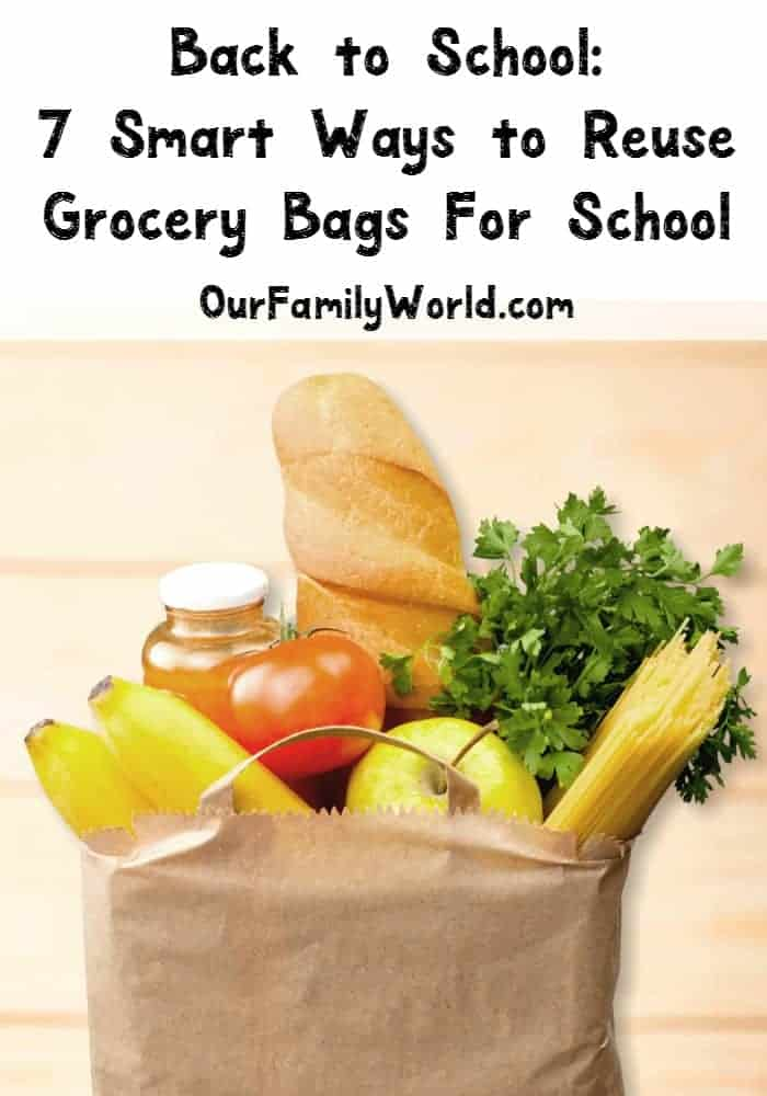 Back to school means it's time ot break out the organization. I've got some ideas for DIY projects with grocery bags that are super smart and frugal. Never throw away a grocery bag again!