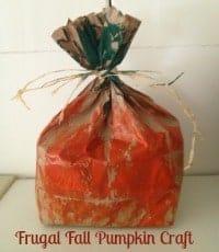 Fall Craft Paper Bag Pumpkin