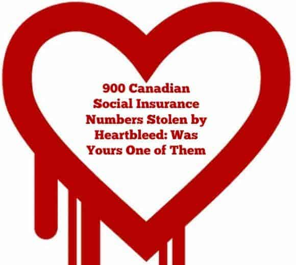 900 Canadian SIN compromised by Heartbleed