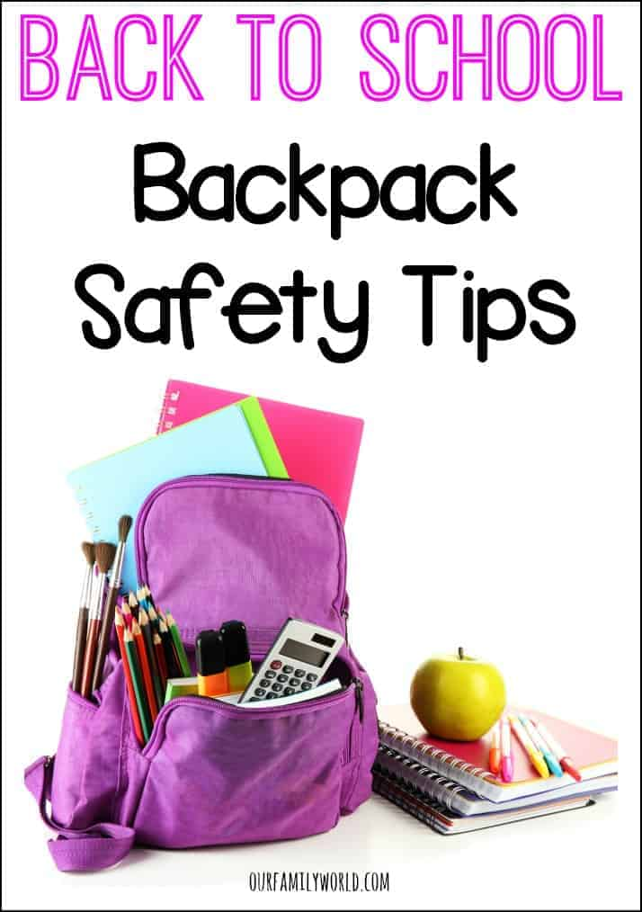 Back To School Backpack Safety Tips