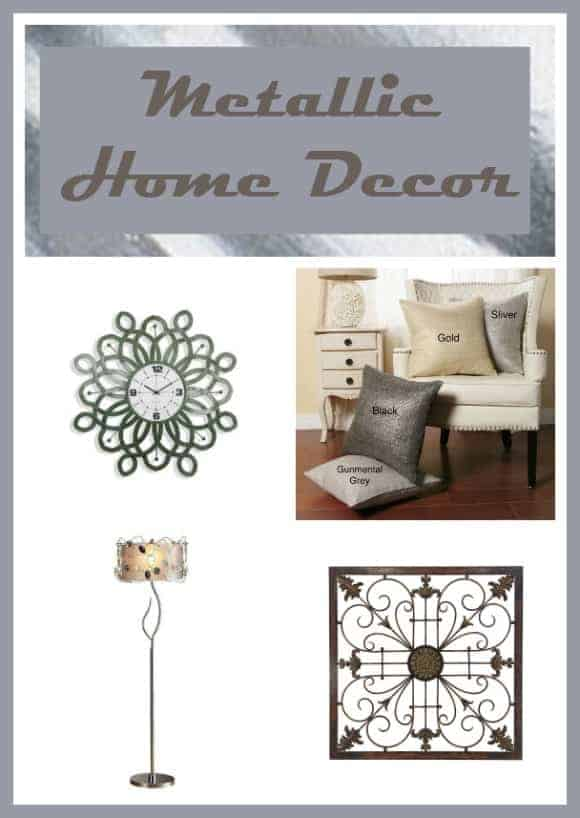 Get in on the Metallic Home Decor on a budget | Home Decor Ideas