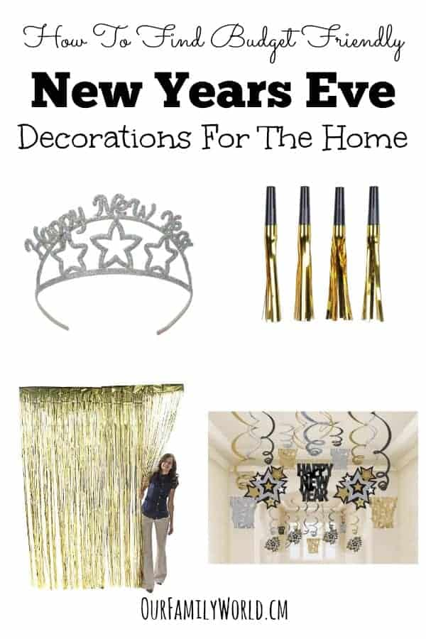 Don't bust your budget decorating for your big NYE bash! Check out our tips on how to find budget friendly New Year's Eve decorations for the home!