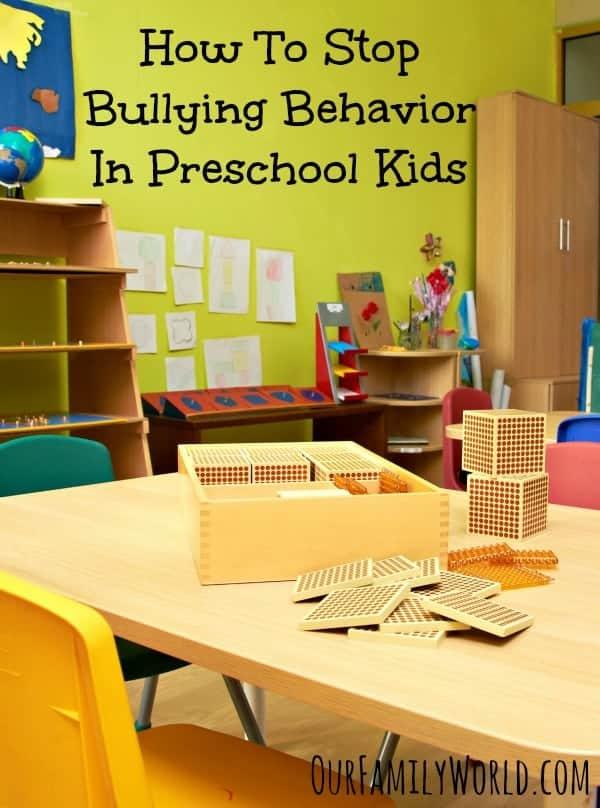 How To Stop Bullying Behavior In Preschool Kids