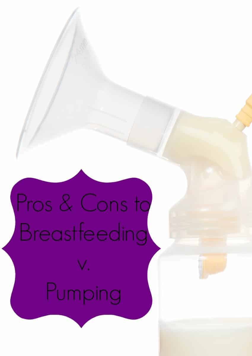 Many new moms wonder about the pros and cons of breastfeeding vs pumping. See out our thoughts on both sides and decide what's right for you and your baby!