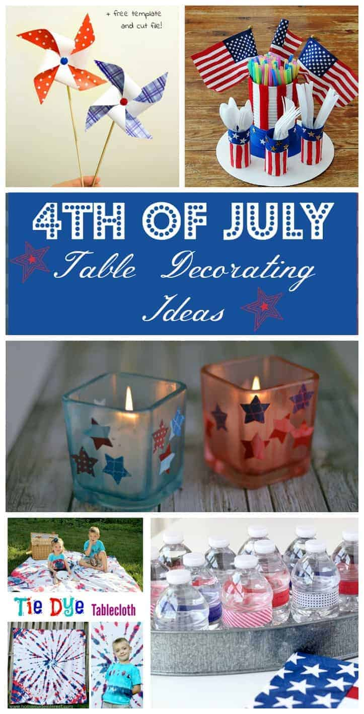 Give your buffet a patriotic makeover with these easy 4th of July table decorating ideas! Make your own DIY decorations or buy pieces and put them together!