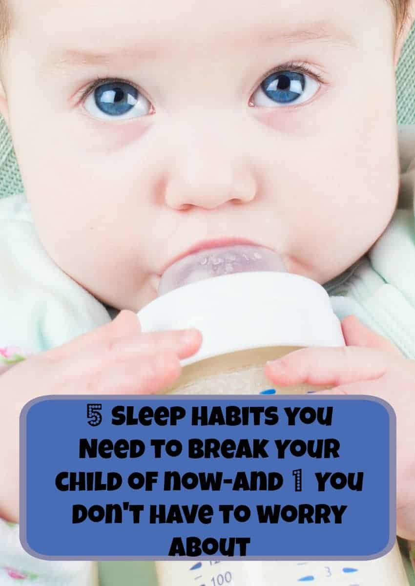 Sleep health is so important to child development! Check out the five bad sleep habits you need to break in your child now, plus one that you really don't have to worry about!