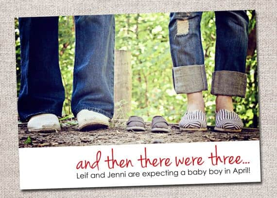 And Then There Were Three with Baby Shoes