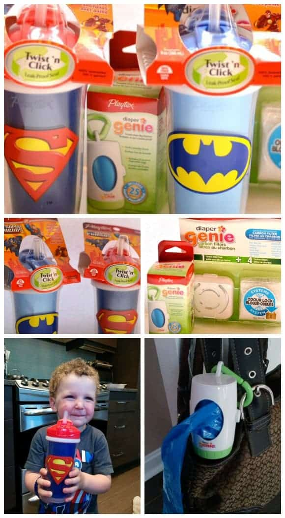 Stop diaper odours from taking over your life with Playtex Diaper Genie products + introduce your toddler to their favorite characters during drink time!