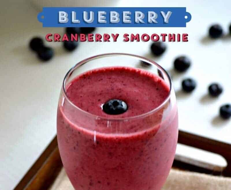Need a tasty way to use up those extra blueberries you picked? Try this yummy blueberry smoothie recipes with a cranberry kick! It packs a healthy punch!