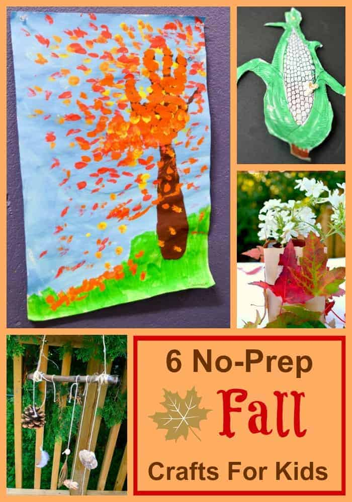 Crafts with kids are a blast, but there is not always time for detailed prep work. Check out these six fall crafts for kids that are ready in minutes.