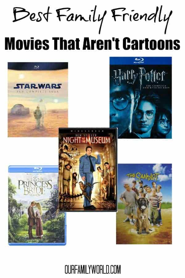 Looking for goodfamily movies of the non animated variety? Check out our favorite family films that aren't cartoons!