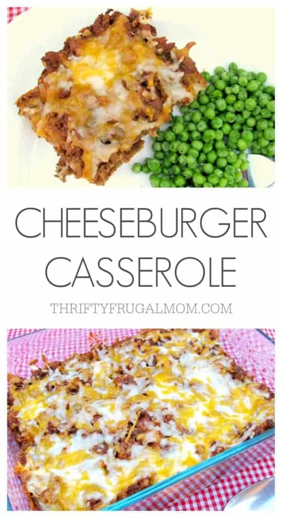 Cheeseburger Casserole Quick Cheap Meals For Large Families