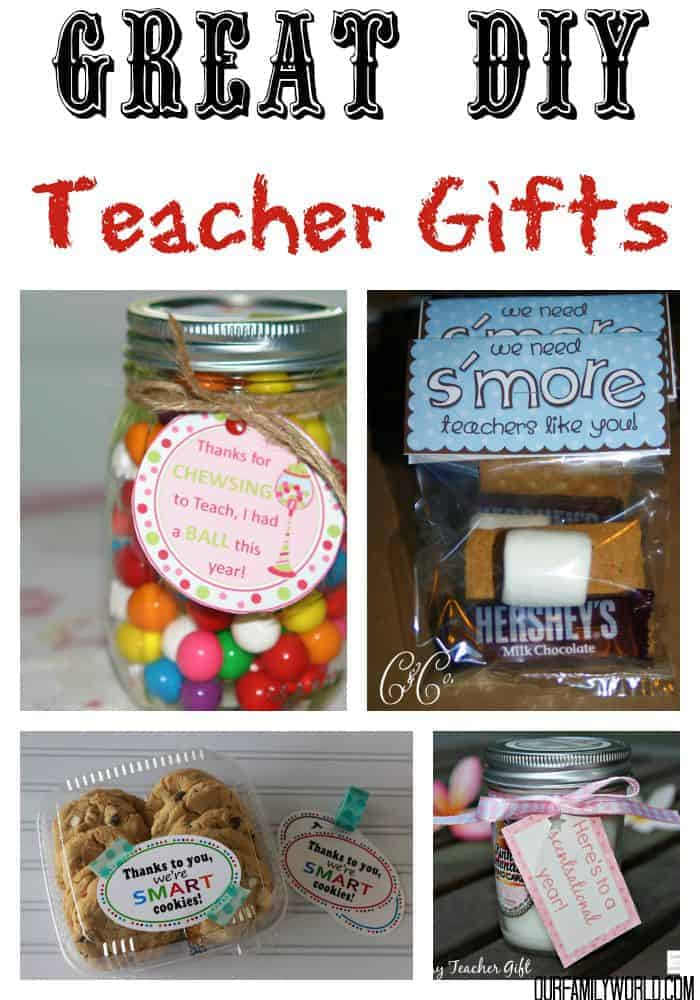 These 7 Great DIY Teacher Gifts are a perfect way to make your kids teachers know how important they are this fall.