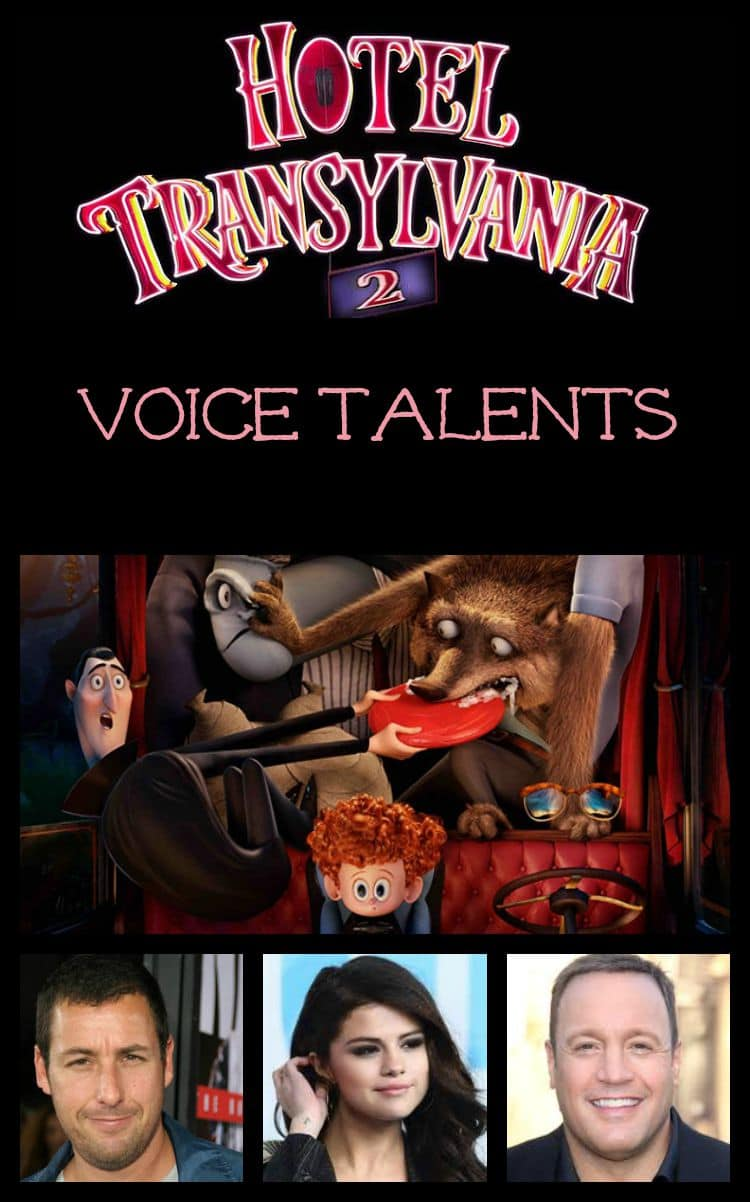 Hotel Transylvania 2 is just oozing with talented actors lending their voices to many funny characters! Check out the voice cast of Hotel Transylvania 2!