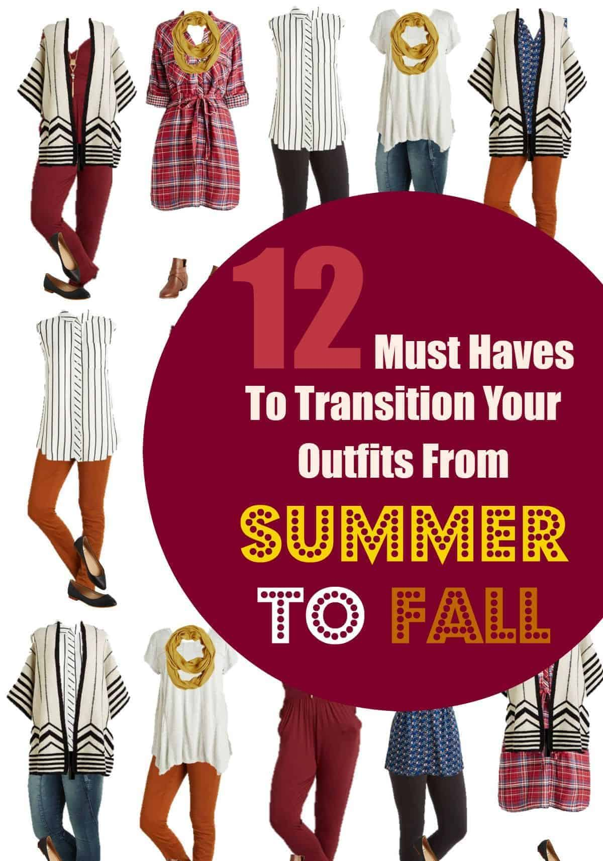 Get ready for cooler days and breezy nights with thees 12 must haves to transition your outfits from summer to fall in the ultimate style!