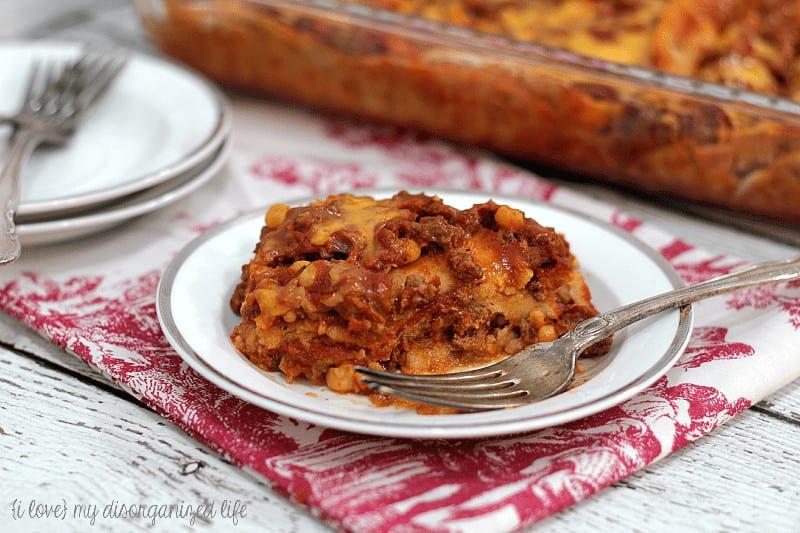 Enchilada Casserole Quick Cheap Meals for Large Families