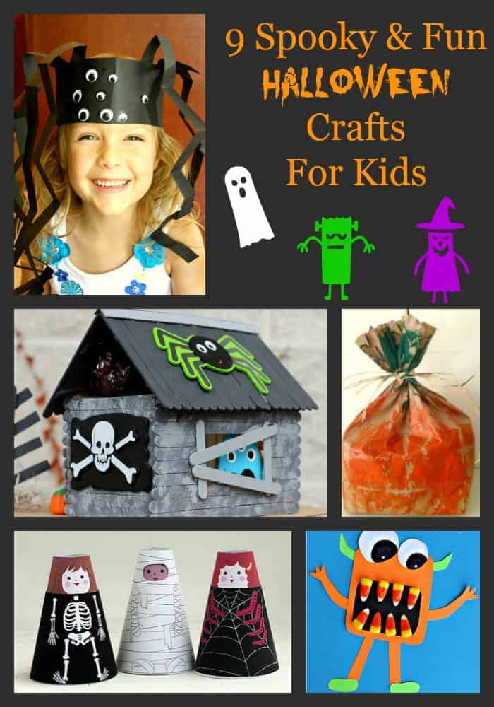 Get your spooky on with our roundup of 9 fun Halloween crafts for kids.
