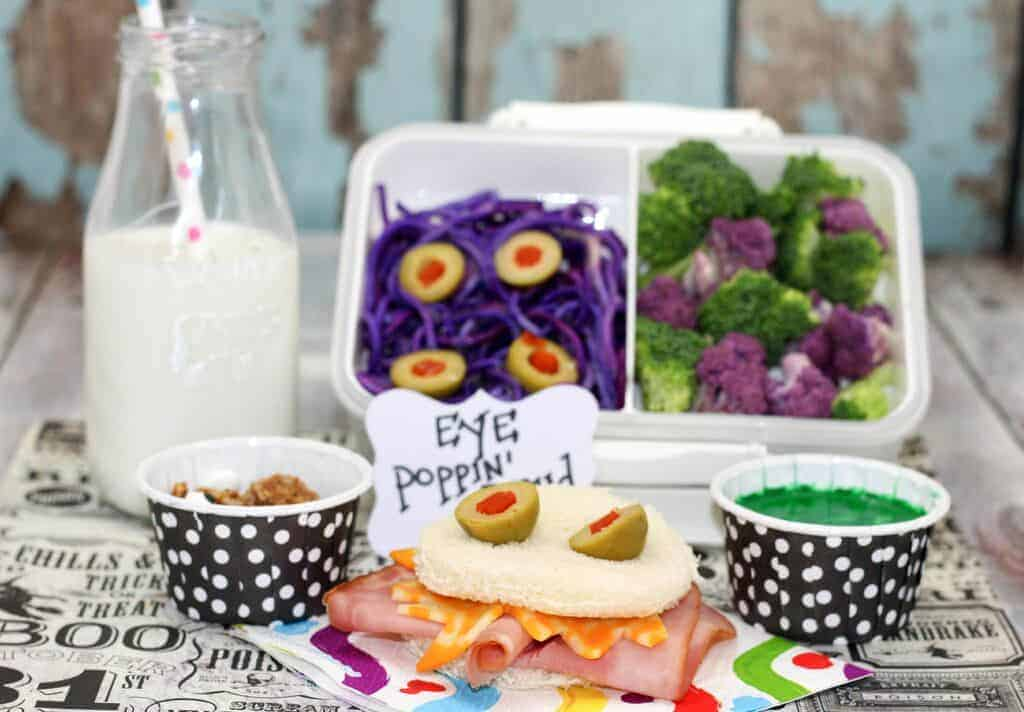 Looking for a fun Halloween lunch for kids to send with them on the last school day of October? This Monster Bento Lunch Box idea is super fun yet healthy.