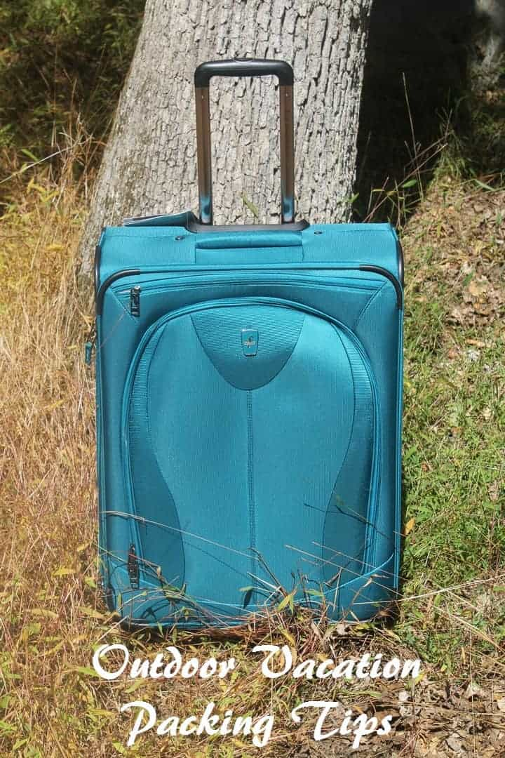 """Planning an outdoor family vacation? Check out our tips for packing like a pro! One of our secrets? Atlantic Luggage 21"""" Spinner! Find out more tips now!"""